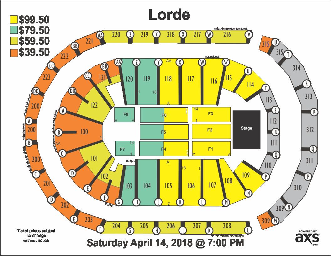Gwinnett Center Seating Chart Lorde With Run The Jewelitski Infinite Energy