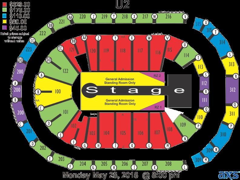 gwinnett arena seating chart: U2 infinite energy center