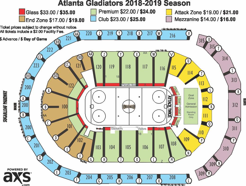 Venue Infinite Energy Arena Price 16 00 35 Seating View
