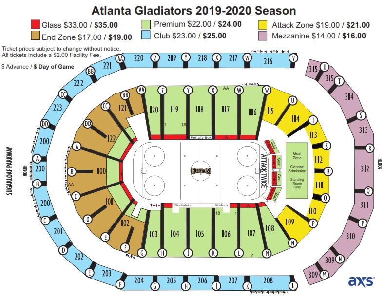 Atlanta Gladiators Infinite Energy Center