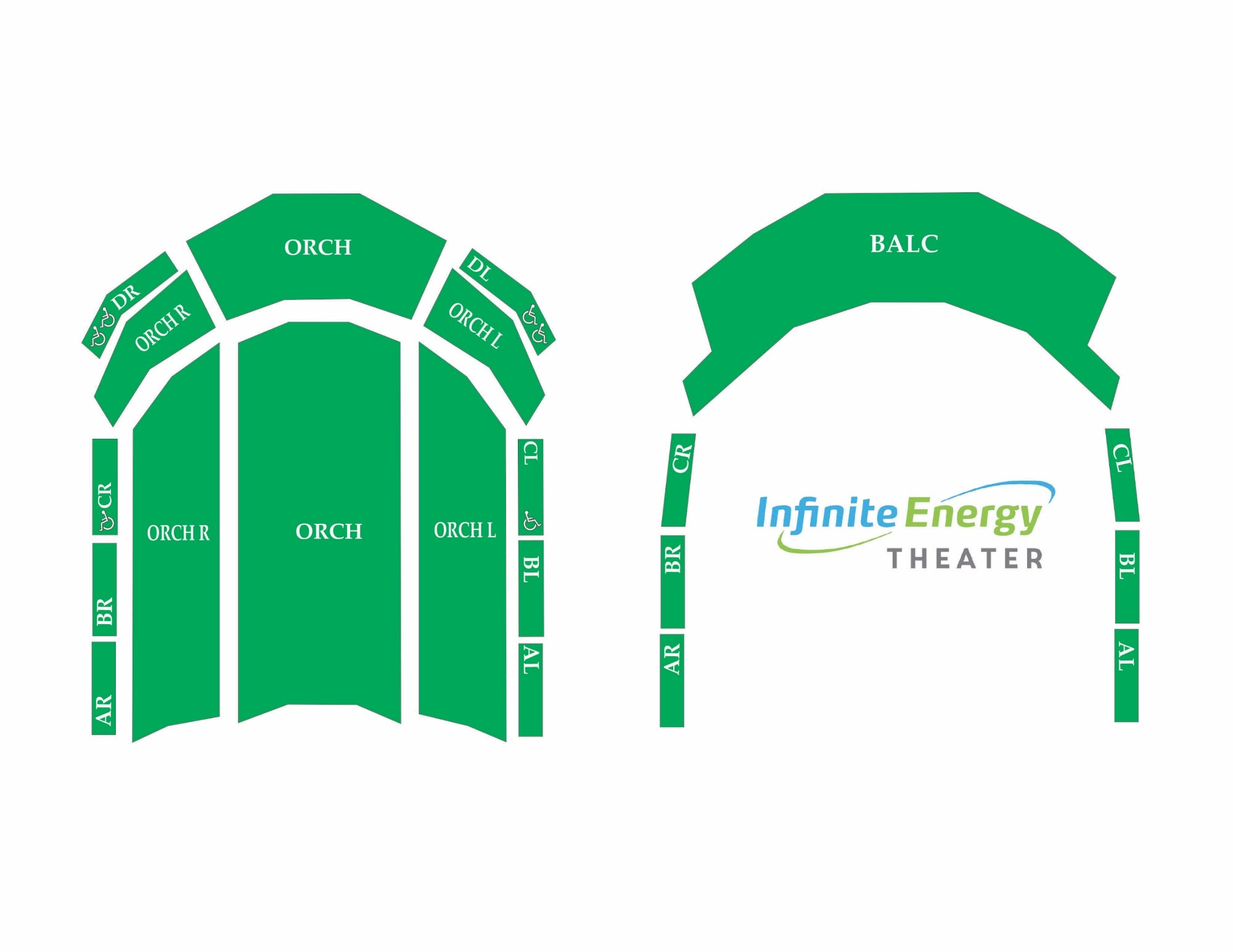 Click Here To View A Generic Seating Map Of Infinite Energy Theater