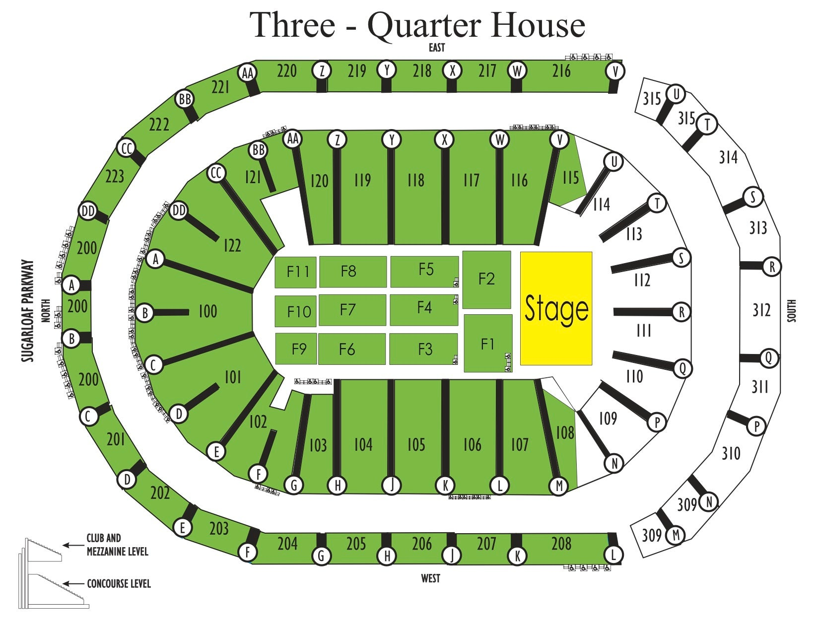 Seating Charts | Infinite Energy Center
